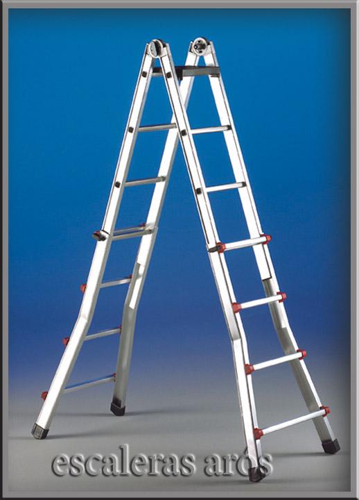 Escalera multiusos escalisima ar s svelt for Escalera multiusos