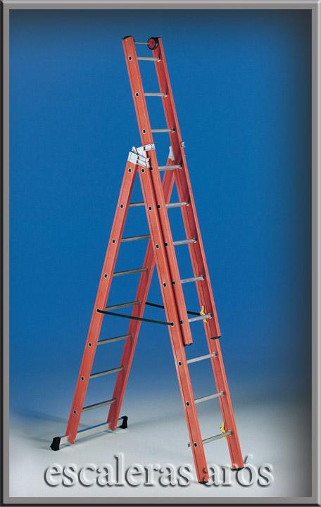 Escalera de fibra v3 escaleras aros svelt for Escaleras fibra